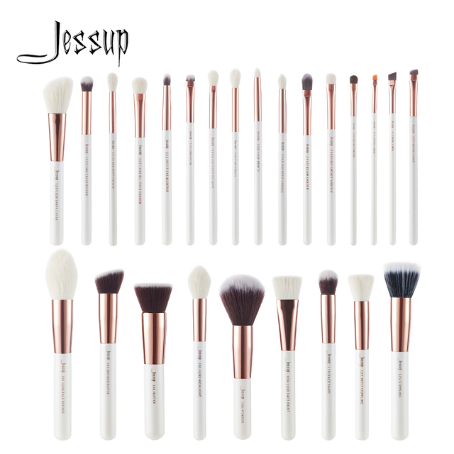 Jessup Makeup-Brushes-Set Dropshipping Pearl-White-Rose-Gold pinceaux maquillage Cosmetic Tools Eyeshadow Powder Definer 6-25pcs