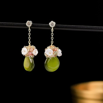 2020 New Original Design Natural Fresh Water Pearl Earrings Handmade Drop Earrings For Women Fine Jewelry image