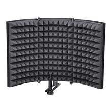 Microphone Isolation Shield, Studio Mic Sound Absorbing Foam Reflector For Any Condenser Microphone Recording Equipment Studio,(China)