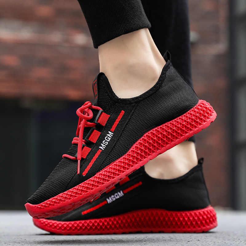 Wiosna mężczyźni buty trampki dorywczo oddychające buty z siatką Zapatillas Hombre Deportiva Sapato Masculino Adulto duże rozmiary mężczyźni 2019