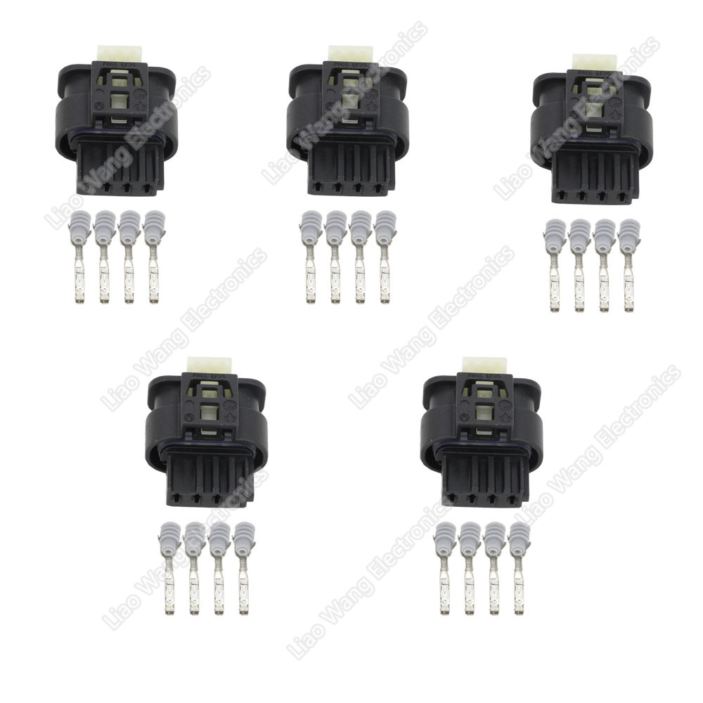 4 Pin automotive connector with a full set of terminals DJ7046B 1 2 21 in Connectors from Lights Lighting