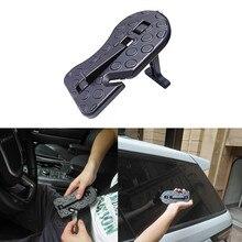 Universal Aluminium Auto Hilfs Pedal Fahrzeug Stepping Leiter Fuß Rest Pedale Mit Sicherheit Hammer Für SUV SRV JEEP Zubehör