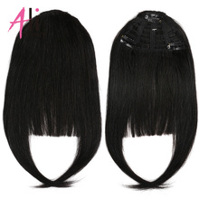 Hair-Extensions Human-Hair-Bangs Remy-Fringe 3-Clips Ali-Beauty Machine-Made Brazilian