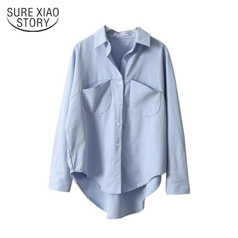 Camisas femininas do vintage blusas roupa 2019 primavera verão blusa coreano manga longa das mulheres topos e blusas femininas 6658 50