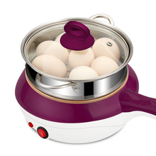 2-слойный многофункциональная электрическая мини-плита Нержавеющая сталь отпариватель сковорода для жарки суп Производитель Мини Пособия по кулинарии вок горячий горшок Плита 220V