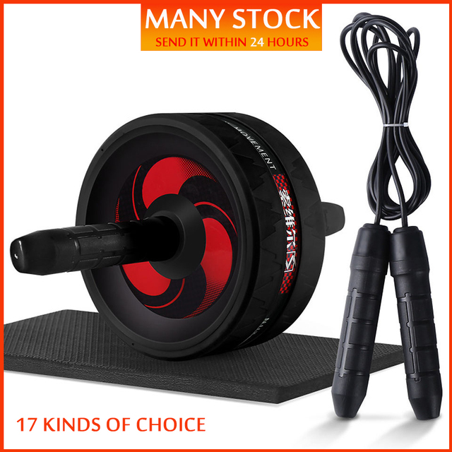 New-2-in-1-Ab-Roller-Jump-Rope-No-Noise-Abdominal-Wheel-Ab-Roller-with-Mat