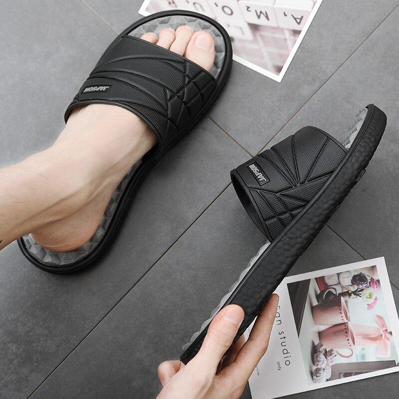 Respirável primavera verão homens sandálias sapatos oco