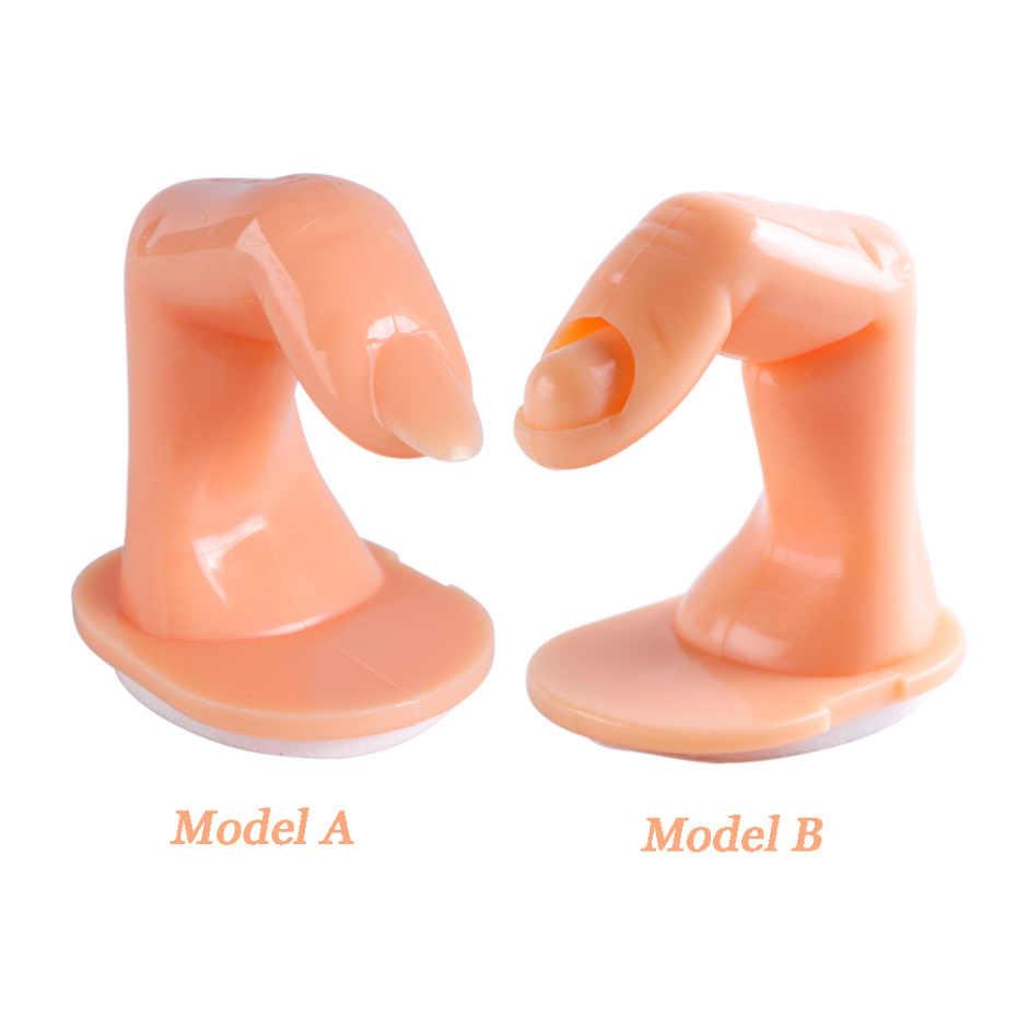 Новые поддельные ногти натуральный пластик Поддельные палец практическая модель руки обучение гель лак стенд дисплей инструменты для дизайна ногтей CHNJ209