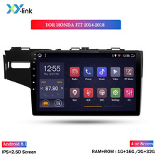 Android  car multimedia video player 9 INCH  For Honda FIT 2014-2018 GPS navigation system auto stereo radio audio no 2 din dvd android 8 1 9 7 ips dsp car gps multimedia navigation radio video audio player system for honda cr v crv 2012 2016 no car dvd