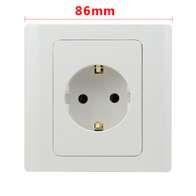 EU Wall Socket European Standard Power socket Outlet 16A 86Type Germany Charger PC Panel Kitchen Plug Sockets