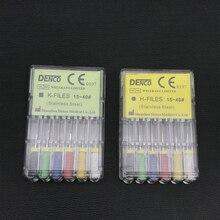 1 Box Dental Edelstahl K-dateien/H-dateien 25mm Endodontie Wurzel Kanal Hand Verwenden Datei zahnarzt Werkzeuge Zähne Bleaching Material
