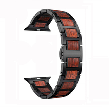EIMO pulseira wood+Stainless steel for Apple watch band 4 44mm 40mm iWatch 3 42mm 38 mm correa  nato strap watchband