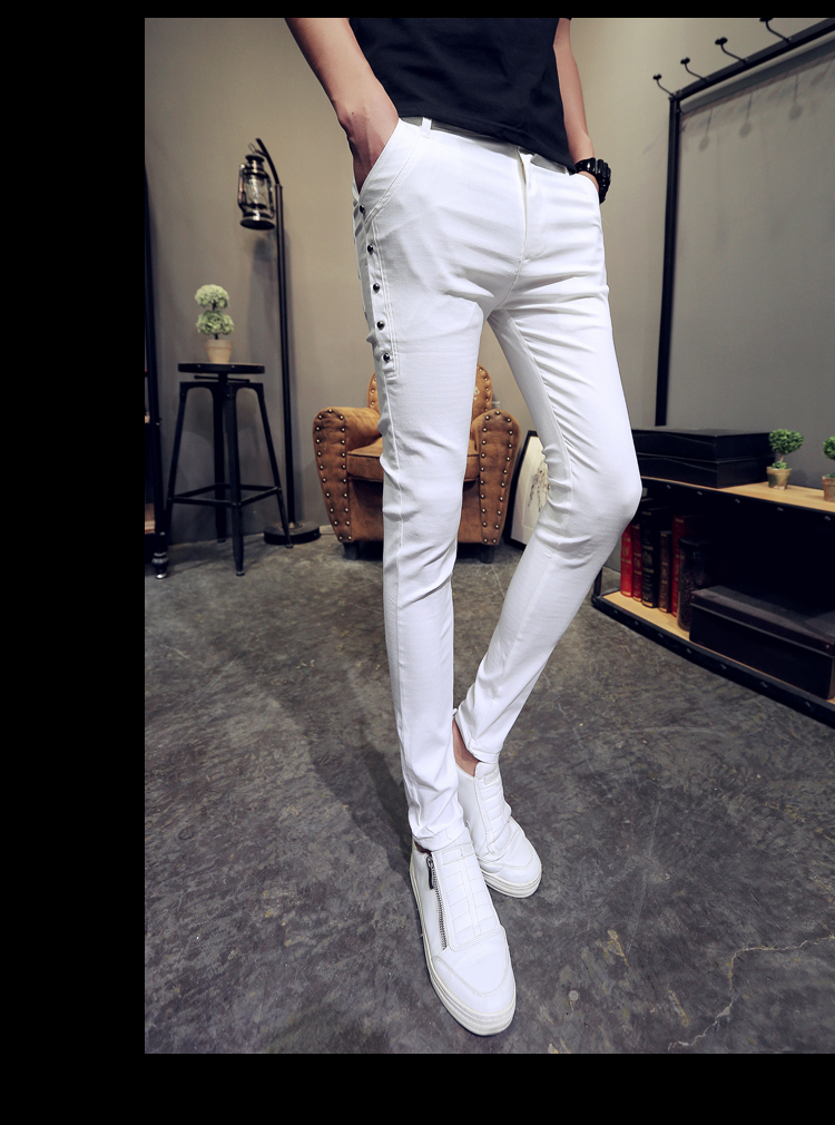 Brand New Men Summer Pants Fashion 2020 All Match Skinny Pants Men Streetwear Casual Trousers Men Hot Sale 16