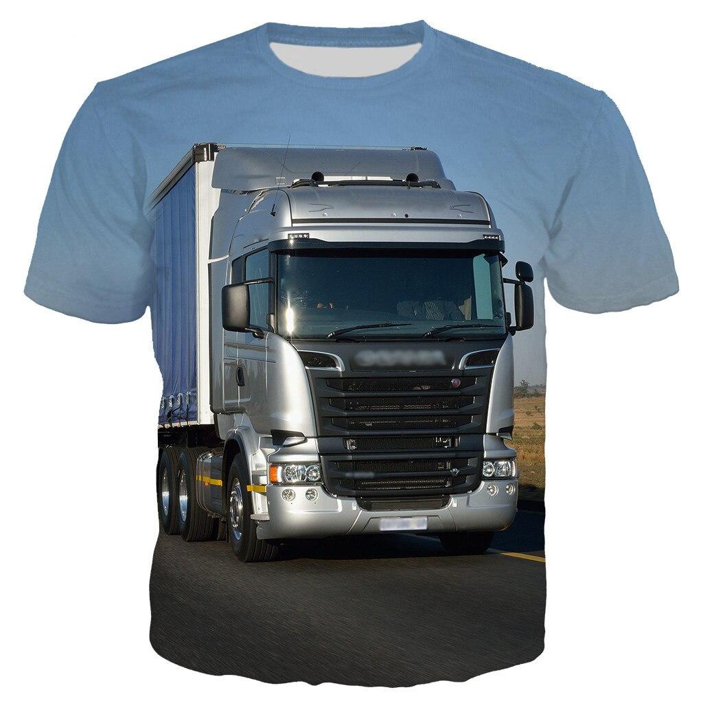 Liumaohua New 3D Print Car Truck Short Sleeve Men T Shirt Summer Fashion Unisex Casual T-shirt