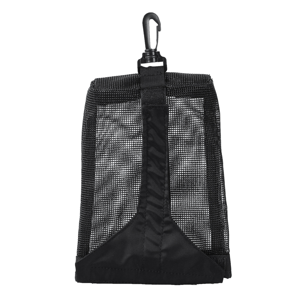 Nylon Mesh Scuba Diving Weight Pocket Pouch Storage Bag & Swivel Clip And Loop Tape Closure - Choose Color