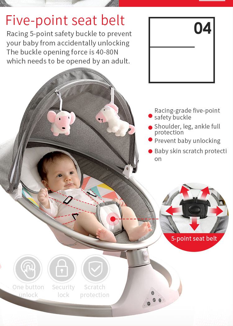 H628f36318ef54a88a747fa5004e5d734D Baby rocking chair newborn shaker baby electric cradleartifact with sleeping comfort