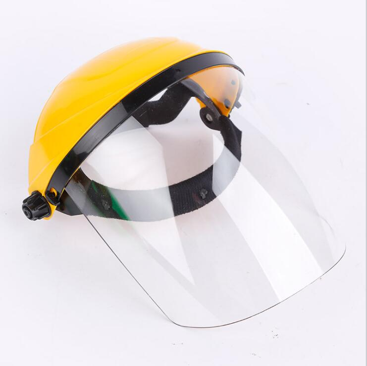 Foldable Mask Head-Mounted Mouth Eye Protection Mask Cover PC Transparent Safety Aniti Splash Dustproof Face Mask