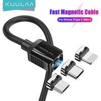 KUULAA cavo magnetico tipo C cavo Micro USB per iPhone magnete cavo USB C cavo di sincronizzazione dati per Samsung Xiaomi cavo di ricarica USB