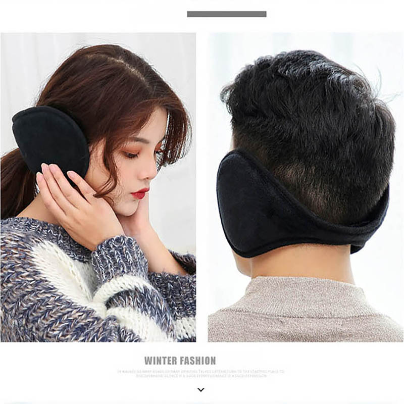 Calymel Winter Unisex Warmer Earmuff Warm Plush Cloth Ear Muffs Cover Men And Women Earwarmers Ear Muffs Earlap Warmer