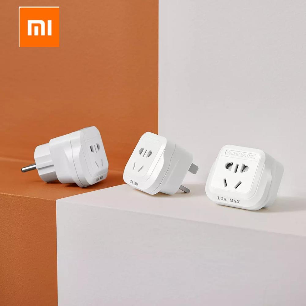 Original Xiaomi Mijia 15A/13A/10A 250V Travel Universal Power Outlet Adapter UK/US/EU/DE To Universal Plug Socket Converter