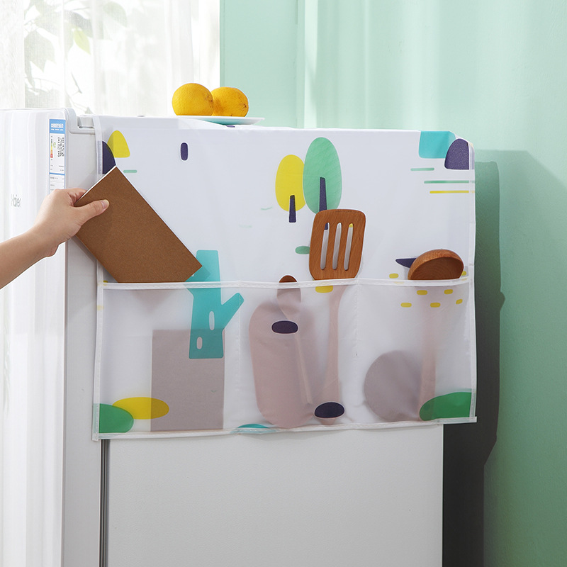 Household Fridge Dust Cover Geometric Waterproof Household Refrigerator Dust Cover Appliance Covers Drop Shipping
