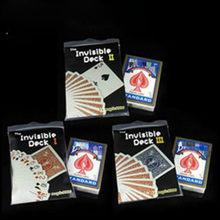 Baraja de bicicleta Invisible I,II,III, trucos de cartas de magia, accesorios de trucos de magia, trucos de magia, mentalismo, calle, diversión, 3 uds.