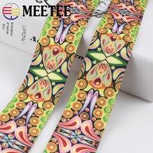 Meetee 3/5Meters 38mm Fashion Polyester Printing Webing Jacquard  Bags Strap Belt Lace Ribbon DIY Clothing Decor Webbing Trims