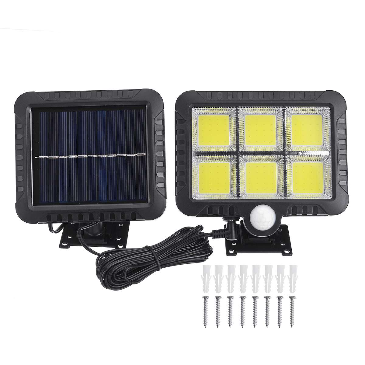 50W COB Solar Power Light Split Type Motion Sensor Outdoor Wall Lamp Waterproof IP65 Energy Saving Solar Garden Lamps