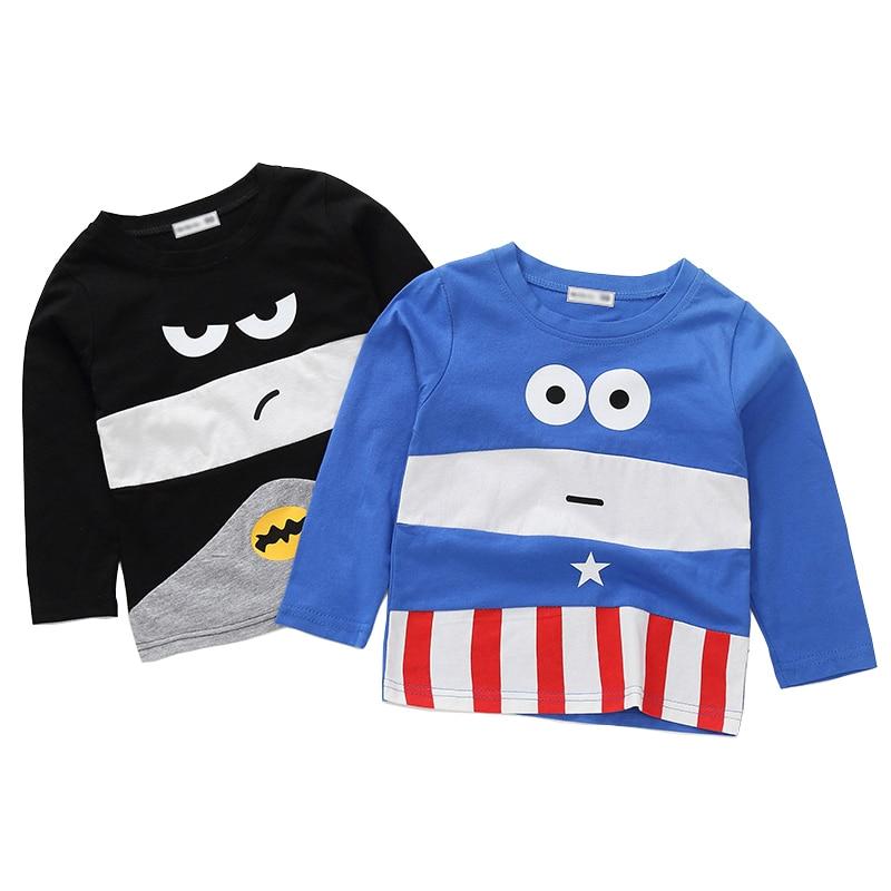 New Spring Boys Girls Cartoon Cotton T Shirts Children Tees Boy Girl Long Sleeve T Shirts Kids Tops Brand Baby Clothes 12M-8Y 38