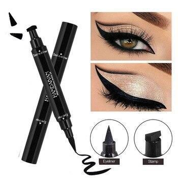 2 In1 Black Eyeliner Waterproof Korean Cosmetics makeup for women Liquid Eyeliner Pencil with Triangle Stamp women's cosmetics 1