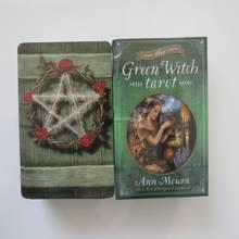 Novo tarô deck oráculos cartas adivinhação misteriosa verde bruxa tarô cartas para meninas jogo de tabuleiro