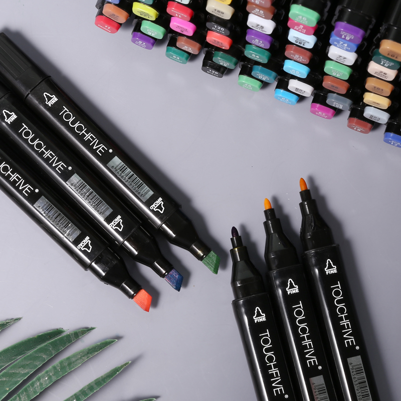 Touchfive Art-Markers-Set Manga Animation Dual-Headed Artist Sketch for Oily 30/40/60-/..