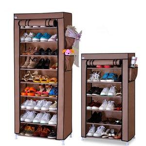 Image 1 - Стойка для обуви, прочный органайзер из ткани «Оксфорд», десять уровней, Современная полка для хранения обуви «сделай сам», мебель для дома