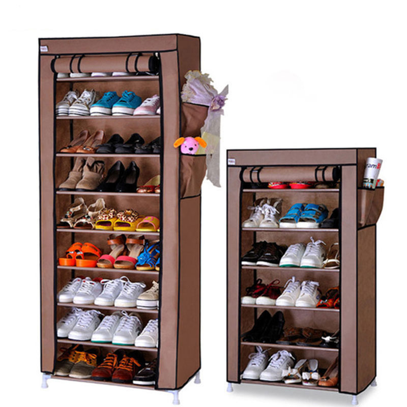 Ten Layers Shoes Rack Strong Durable Oxford Cloth Fabric Shoe Organizer Rack Modern DIY Shoes Storage Shelf Home Furniture