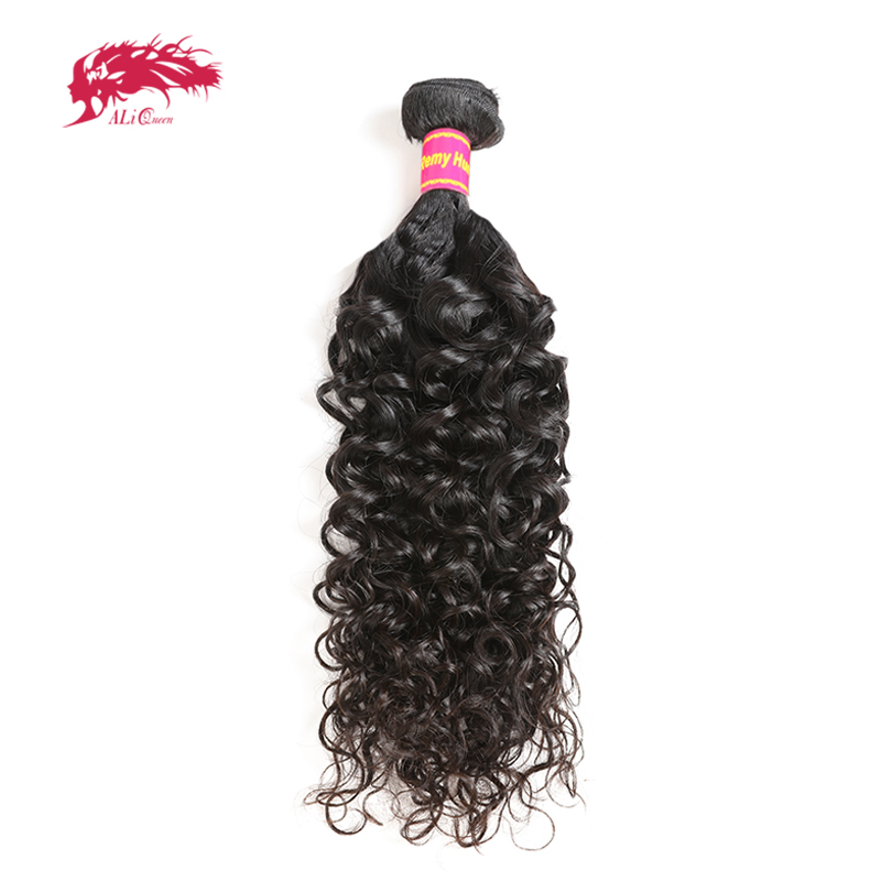 Ali Queen Brazilian Hair Water Wave 1/3/4 Pcs Remy Hair Weave Bundles 12