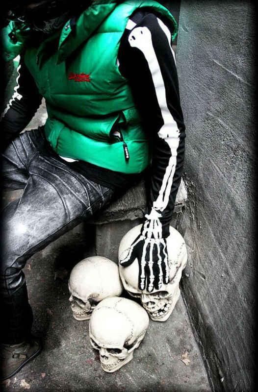 Darmowa wysyłka mężczyźni kobiety czaszka dla obu płci Halloween Cosplay pełna palec ręki kostium rękawiczki