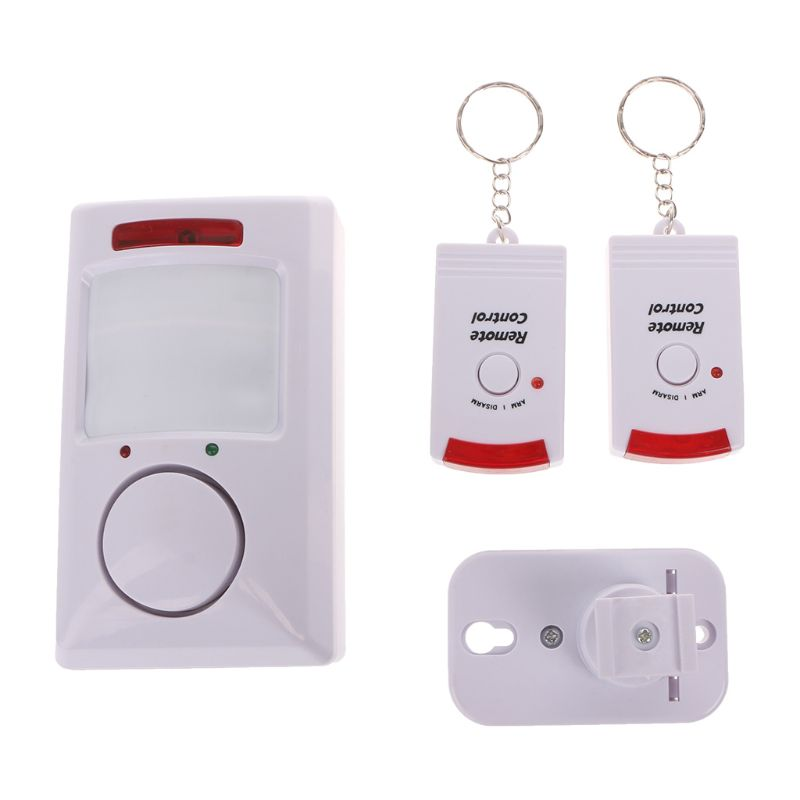 Electronic Dog Portable 105dB PIR Motion Detector Infrared Anti-theft Motion Detector Home Security Alarm system+2 cont