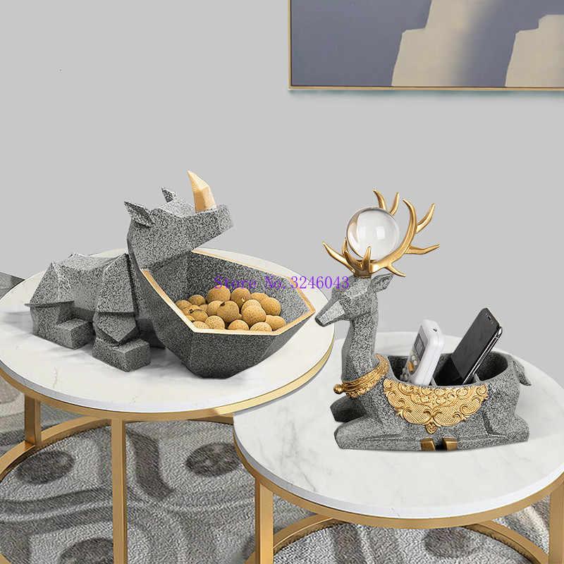 European Creative Ornaments Hippo Hall Tv Cabinet Shoe Cabinet