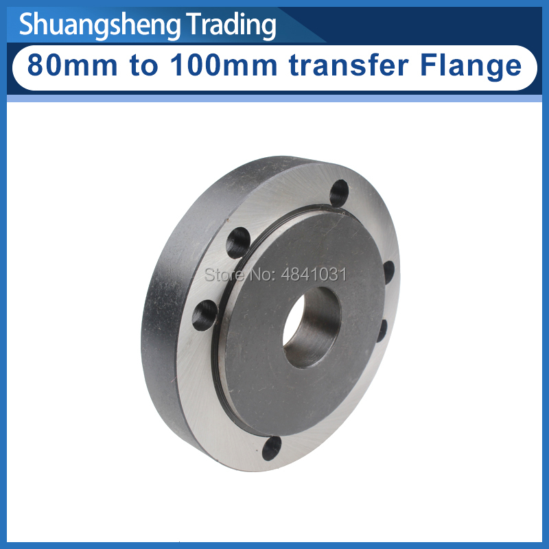 80mm To 100mm Convertible Flange/3 Jaw Chuck Transfer To 4 Jaw Chuck Flange S/N:50013