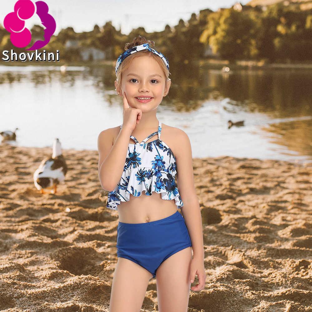 2020 Latest Bikini Swimwear Girl Children Swimsuit Children Swimming Wear Sexy Bikini Swimsuit Kids Print Ruffle Bathing Suit      - AliExpress
