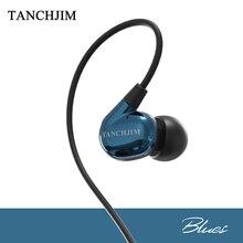 TANCHJIM Blues dans l'oreille écouteurs dynamique 3.5mm ligne Type HiFi lourd basse musique moniteur DJ Studio écouteurs