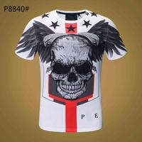 T Shirt Men Black Tshirt Funny Punk Rock Clothes Military Plein Skull 3d Print T shirt Hip Hop Mens Clothing Summer Streetwear