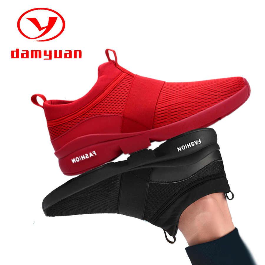 Hızlı kargo gündelik erkek ayakkabısı nefes kadın moda örgü ayakkabı işık çift rahat Zapatos De Hombre artı 36 46
