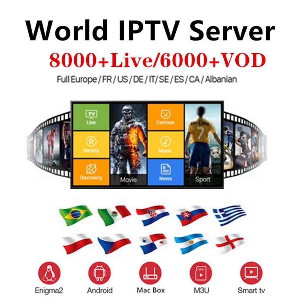 Full World IPTV 8000 Live 6000 VOD Adult 4K Europe Dutch Israel Spain Germany Itlay Arabic USA IPTV Subscription Ssmart TV M3U