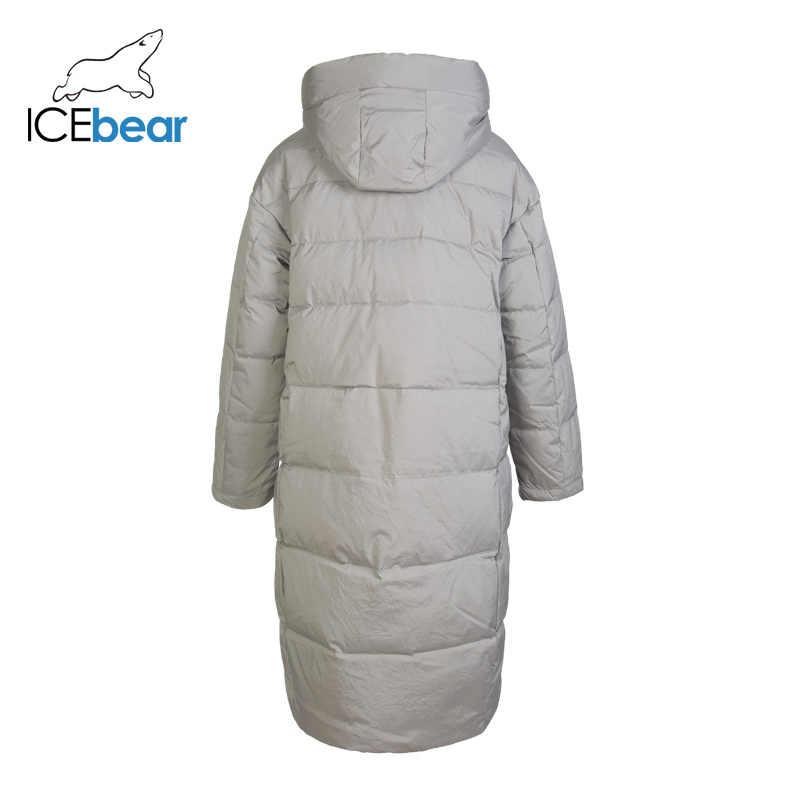ICEbear 2019 nieuwe winter lange vrouwen donsjack mode warme vrouwelijke jasje merk dames kleding GN318329P
