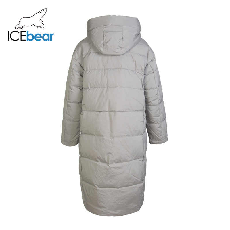 ICEbear Новинка 2019 длинный зимний женский пуховик модная теплая Женская куртка с капюшоном Брендовая женская одежда GN318329P