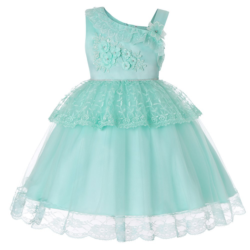 A Grant From White Southeast Asia Satin Guangdong Formal Dress Child Formal Dress Girls' Princess Skirt GIRL'S Princess Dress