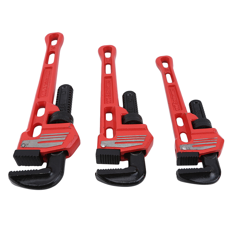 Pipe Wrench Pipe Clamp 10Inch 12Inch 14Inch Heavy Duty Plumbing Manual Tools Alloy Steel Anti-rust Anti-corrosion
