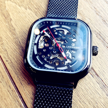 Fashion Square Mechanical Watch Men Top Luxury Brand Skeleton Automatic Watch Waterproof Personality Clock Man Relogio Masculino t winner luxury fashion sport men automatic mechanical watch skeleton crystal decorated leather strap relogio masculino clock