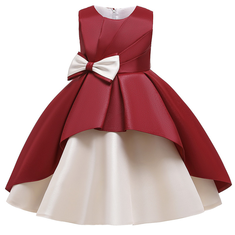 Kids Dresses for Girls Flower Bow Tutu Kids Clothing Elegent Birthday Wedding Girls Dresses for Children Princess Custumes